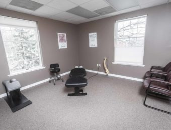 Chiropractor Dr. Brian A. Zelasko's Clean And Modern Examination Room